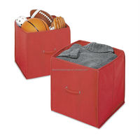 Colorful Decorative Promotional canvas storage box For Clothes Sock Underwear Bra Sundries