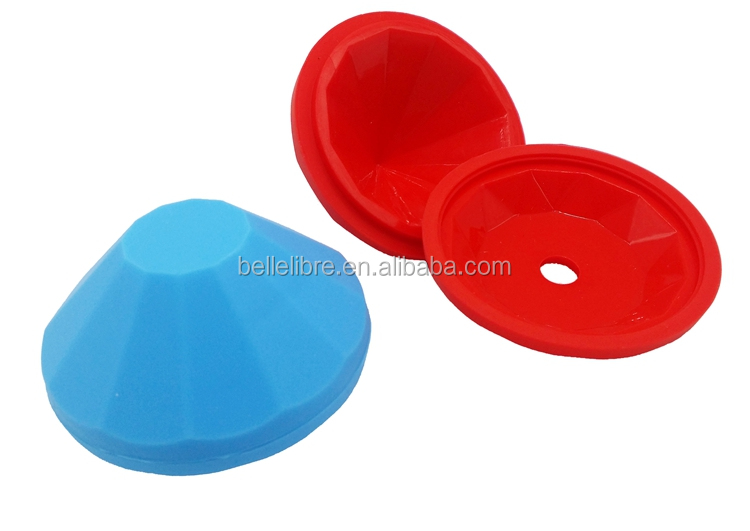 216 New Arrival Silicone Diamond Design Ice Mold Ice Cube Tray