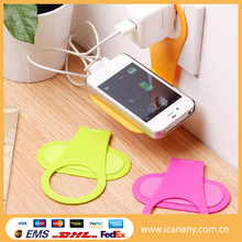 Wholesale foldable plastic mobile cell phone charger holder for travel