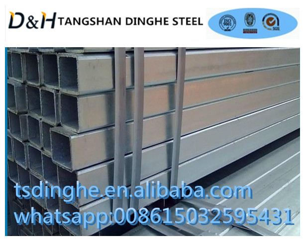 Good Quality! Pre-Galvanized Steel Tube/ rectangular & square GI steel tubes