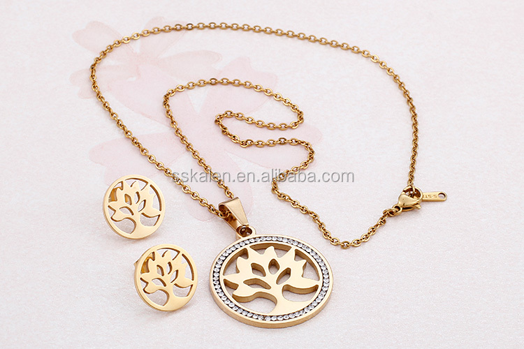 african fashion women 18k gold plated jewelry sets