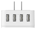 ORICO S4U Global Multifunctional Travel Adaptor 4 USB port wall charger