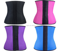 2015 I-Glam 9pcs Steel Boned Underbust Waist Trainer Cincher Latex Rubber Strap Corsets Body Shape More Colors to Choose