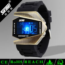 2014 Skmei luxury mens led watches flashing light silicone watch multifunctional digital sport watch