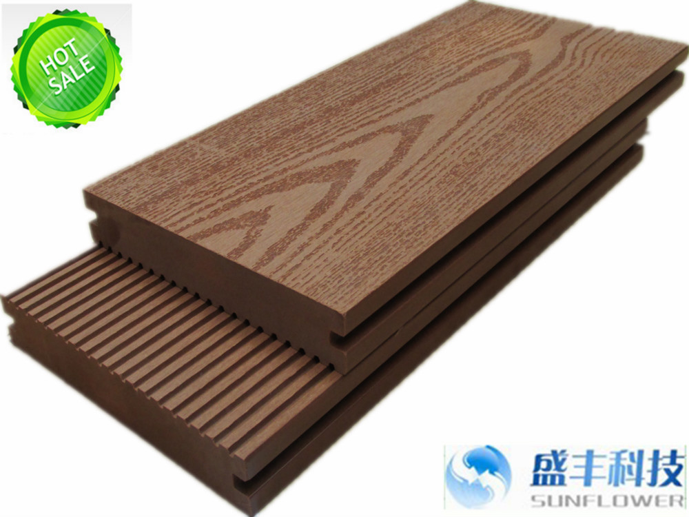 waterproof wpc decking floor /anti-slip Rot Resistance UV Resistance wpc board
