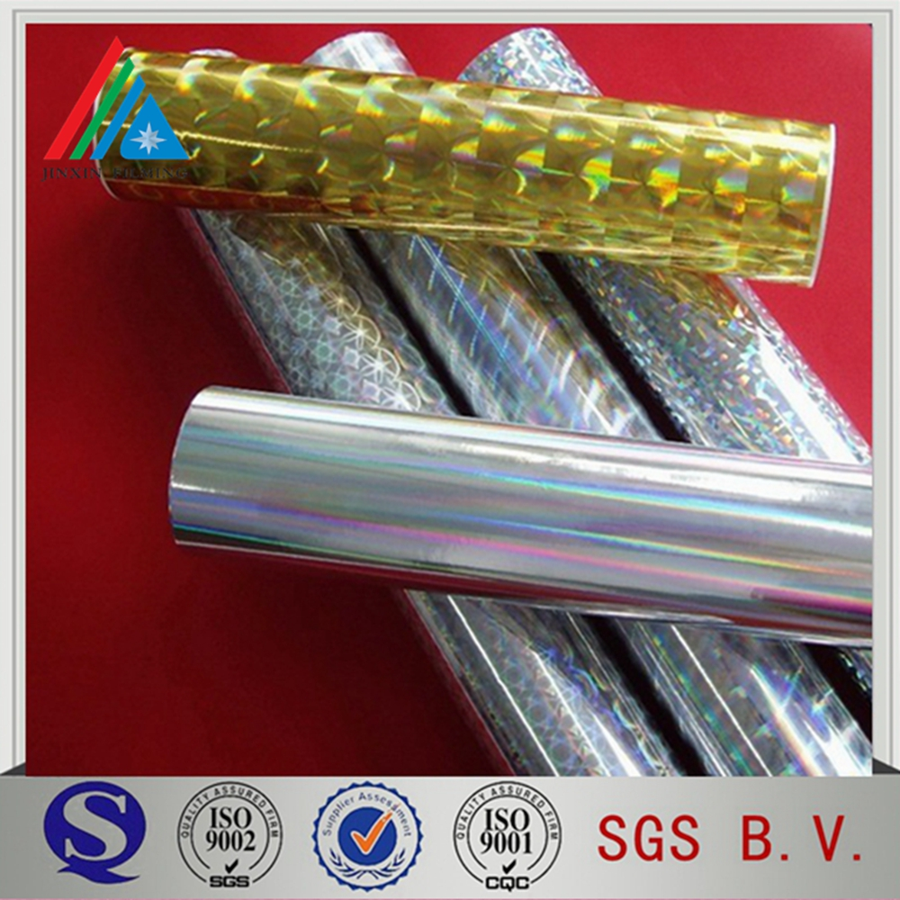 BOPP/PET /PVC Silver based BOPP Metalized Holographic Film for Gift packaging