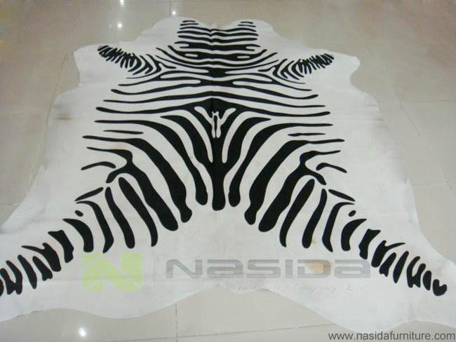 Cl100 piel blanco y negro impresi n blanco y negro cebra - Alfombra vaca ikea ...