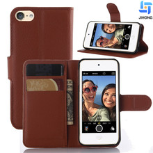 Wholesale Card Holder Flip Phone case Pu Leather Cover Wallet Phone Case For Ipod Touch 5