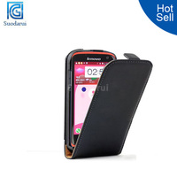 Hot Ultra Slim Flip leather mobile phone case for lenovo s820