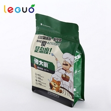 High quality standing heat seal packing pouch nuts food bag with zipper
