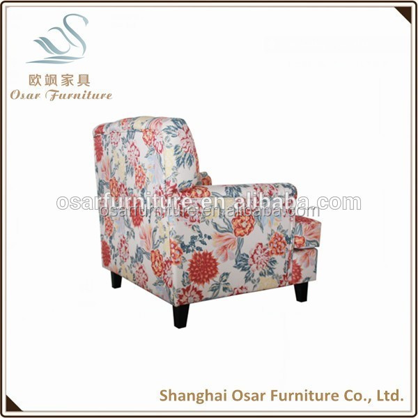 Eouropen Single Chesterfield luxury fabric wing chair sofa