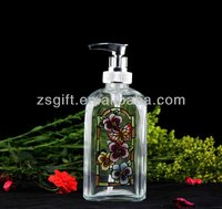 kingly promotional high-quality clear glass lotion bottle