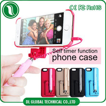 New products 2016 selfie stick phone case for iphone 6 case 360 degree rotation with phone holder travel accessory