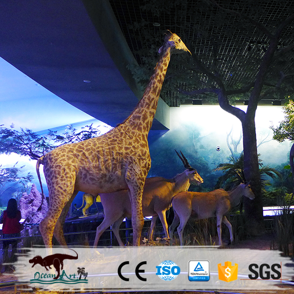 Simulation animatronic animals supply giraffe for museum display
