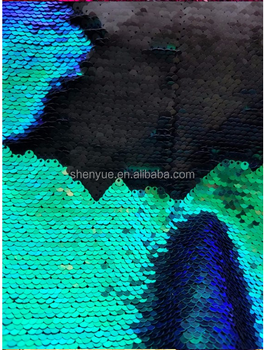 5mm hot selling high quality two side colors reversible sequin polyest fabric for pillows