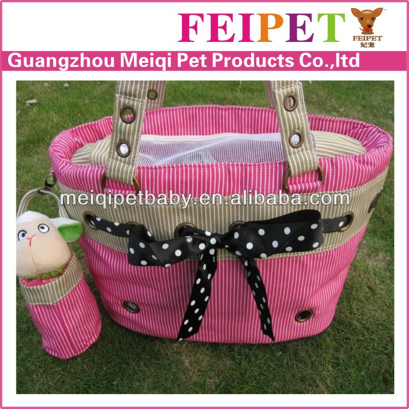 Lovable pink top open mess dog carrier bag