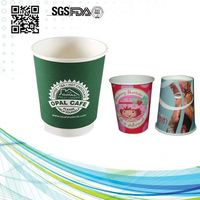 Company With Logo Printed Cups Double Wall Paper Cup