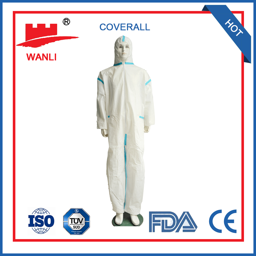 Disposable safety industrial coveralls body suit