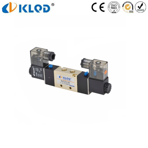 4V220-08 5/2 way DC 24V Single Solenoid Valve