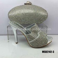 matching shoes and bag set shoe green female women high heels