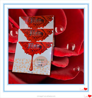 Beauty rose Collagen facial mask Multiple vegetal extracts deep moisturising Whitening rose gel mask