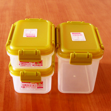 3 Pcs Set Microwave Commercial Plastic Food Containers with Lid