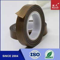 PTFE Teflon Coated Fiberglass Cloth Tapes With ISO9001&14001 Certificates