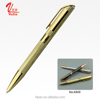 High quality good style metal body ball pen rose gold pen