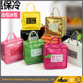 PVC Shopping Bag with Handle Tote Cosmetic Carrier Bag,PVC plastic shopping bag,Shiny PVC tote shopping bag, PVC shopping bags