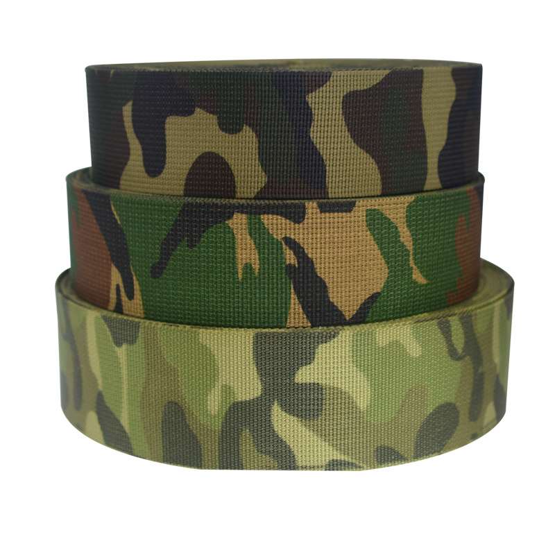 High Quality Camouflage Pattern Custom Printed Nylon Webbing