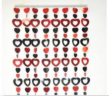 AM130 wedding decor red and black PVC heart bead curtain