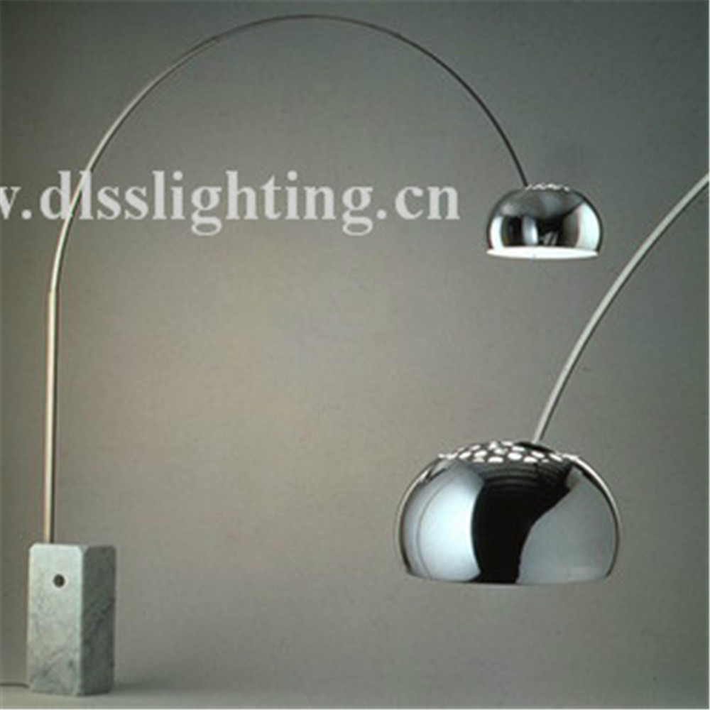 popular designer marble base aluminum modern floor stand lamp made in china