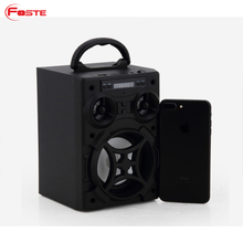 Wholesale Alibaba Bluetooth 3.0+5W Output+1200Mah+Stereo Sound Led Wood Mini Wireless Speaker Bluetooth Promotion$