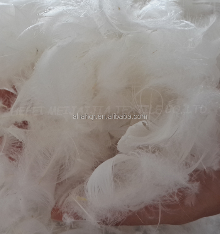 washed white goose feather and duck feather raw