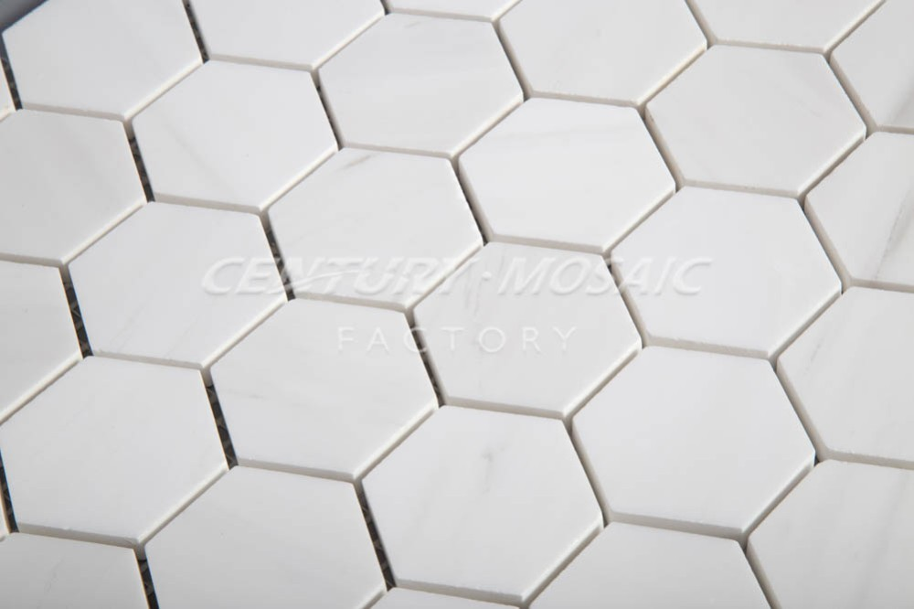 Cheap Marble Hexagon Mosaic Kitchen Backsplash Tile