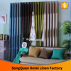 2016 NEW arrival 30%polyester and 70%cotton Top Hotel Blackout Curtain