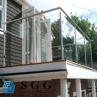 8mm railing frameless tinted laminated glass wall balustrade tempered glass
