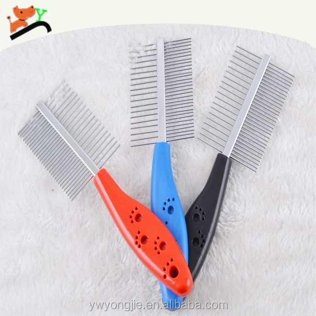 Durable Pet Product For Cleaning Death Hair Plastic Handle Dog Grooming For Dematting Function