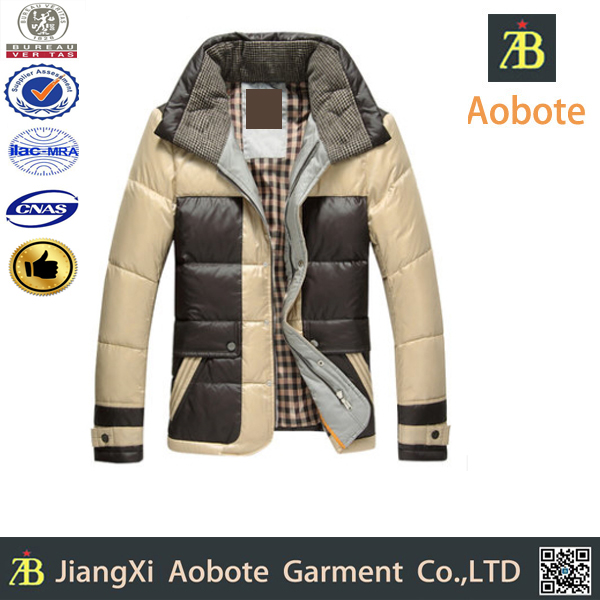 2015 New Designed Customized Outdoor Goose Feather Down Jacket For Men