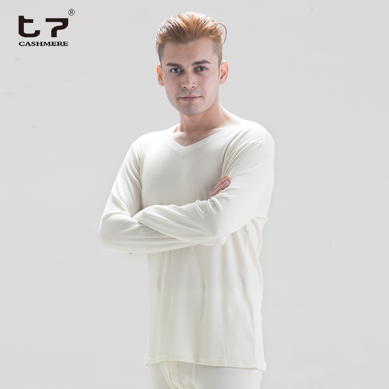 Types of mens cashmere long underwear set inner wear factory