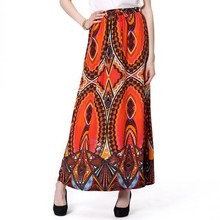 Excellent Quality Sublimated Rayon Print Maxi Skirt