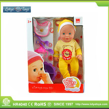 Kids toys 14 inch IC soft silicone molds life size baby doll guandong factory
