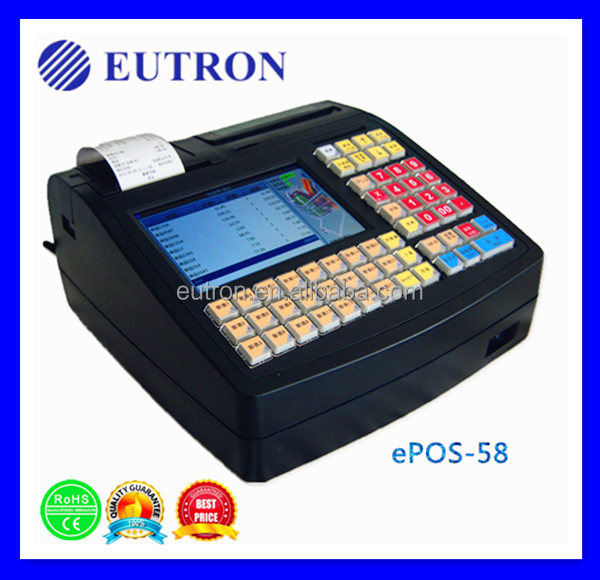 with LCD display for electronic scale, receipt printer Linux POS online cash register