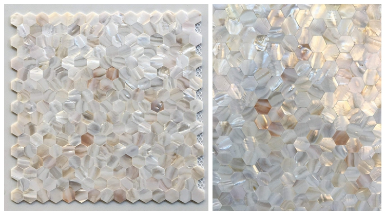 Fast Delivery Natural Shell Shaped Wall Tiles Hexagon Mosaics Backsplash