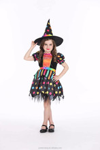 Dream party dramatic halloween costume Cute Baby kids Children girl polkadot witch dress