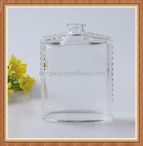 High quality China manufacturer clear empty 90ml glass perfume bottle