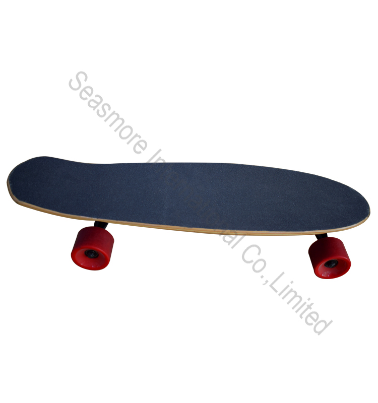 Good maple wood longboard with electric motor four wheels motorized mountain board for sale