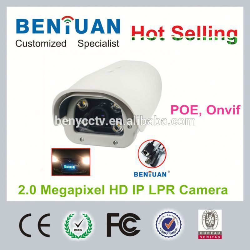 Benycctv best sell Waterproof 2.0 Megapixel ip camera for car plate number recognition