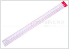 "China Kearing brand 45cm&18"" transplant 1.2mm thickness sandwich line plastic grading ruler for sewing design #8095"