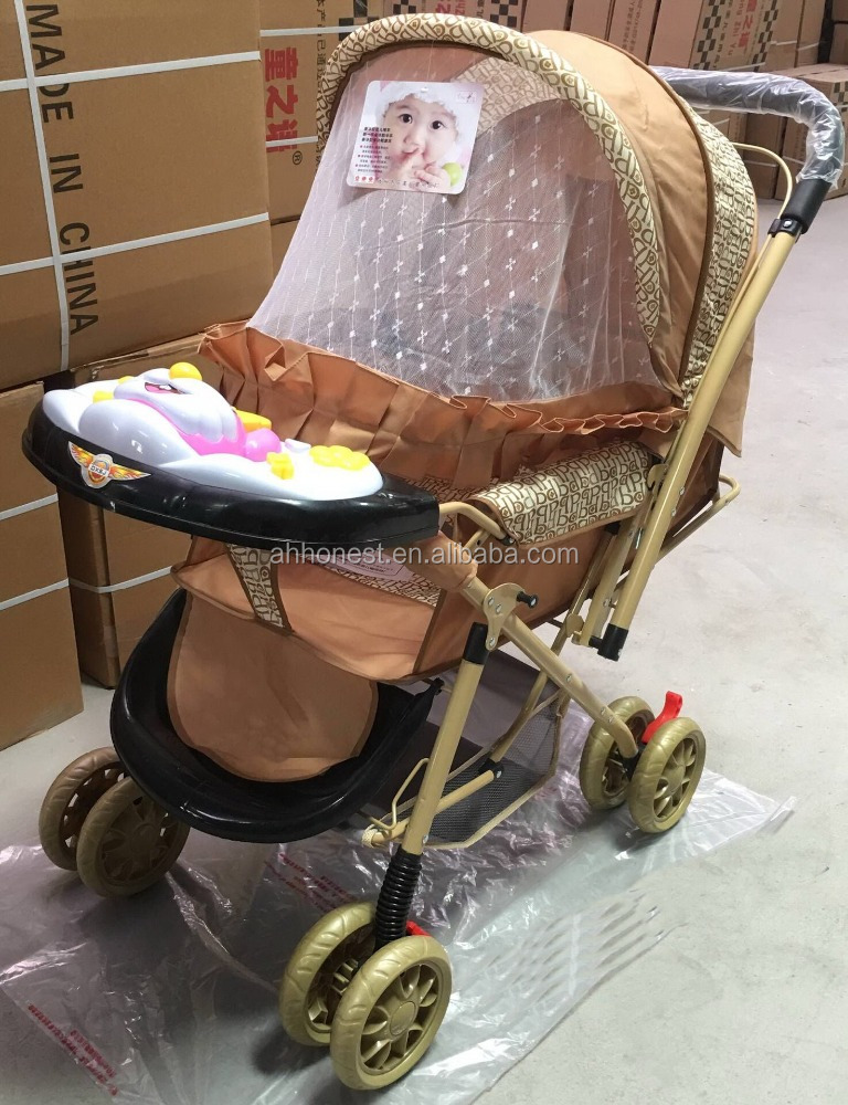 High Quality Baby Stroller with Music Box Kids Stroller with music Tray and Reversible Handle--HN-T805